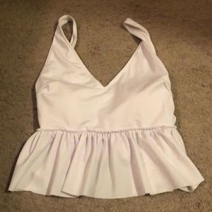 Kortni Jeane NWT white V Neck WITH DEFECT